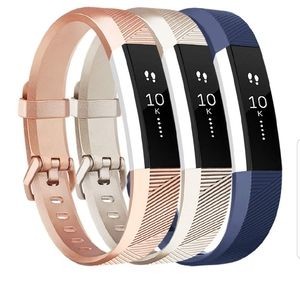 Jewelry - Fitbit Alta silicone replacement band (3 pack)